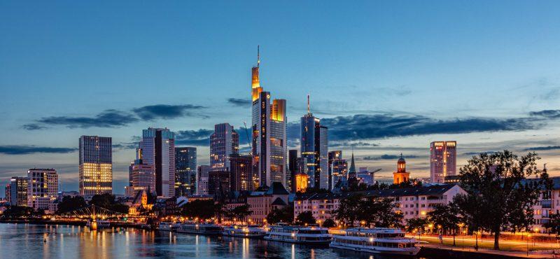 Ein Bild der Frankfurter skyline